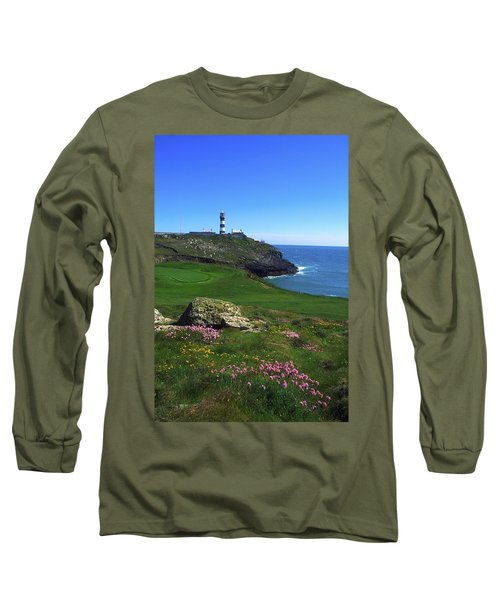 Old Head Of Kinsale Lighthouse Long Sleeve T-Shirt