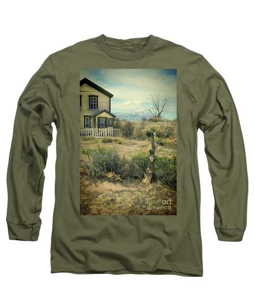 Long Sleeve T-Shirt featuring the photograph Old House Near Mountians by Jill Battaglia