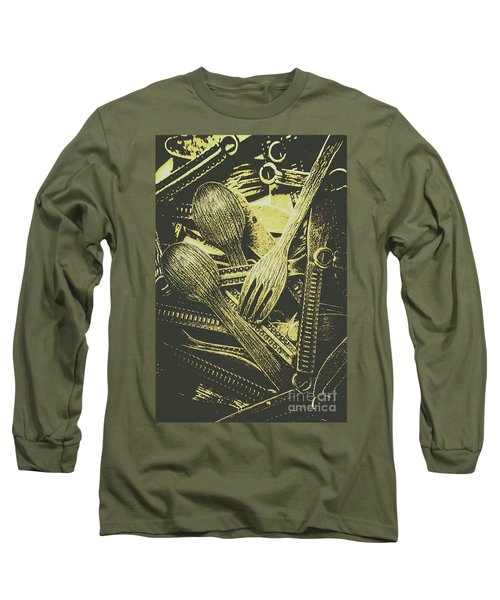 Old Knives Forks And Spoons Long Sleeve T-Shirt