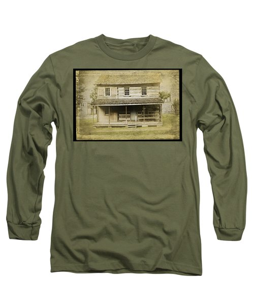 Long Sleeve T-Shirt featuring the photograph Old Log Cabin by Joan Reese