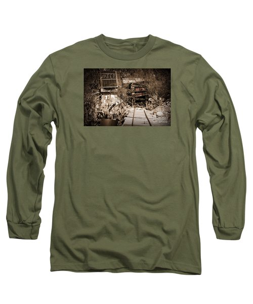 Old Mining Tracks Long Sleeve T-Shirt by Kirt Tisdale
