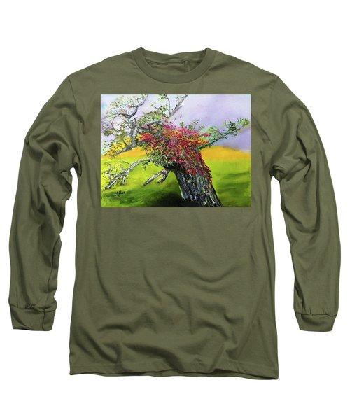 Old Nantucket Tree Long Sleeve T-Shirt