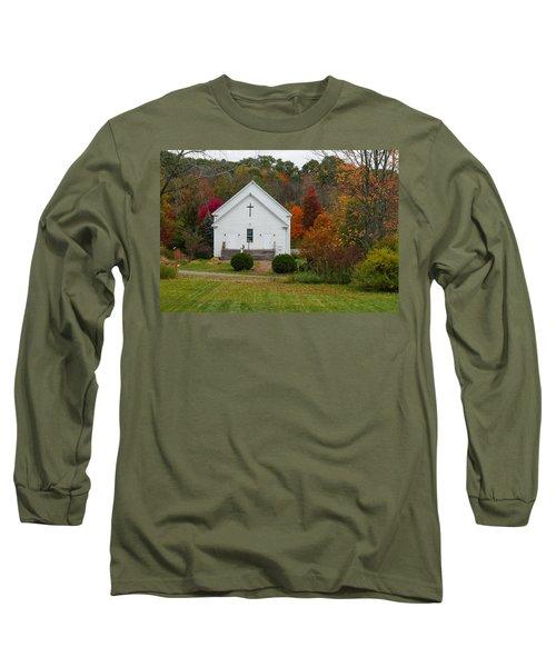 Old New England Church Long Sleeve T-Shirt