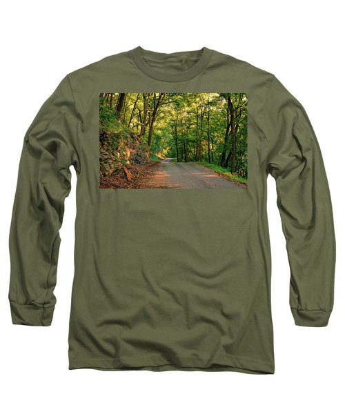 Long Sleeve T-Shirt featuring the photograph Old Plank Road by Cricket Hackmann
