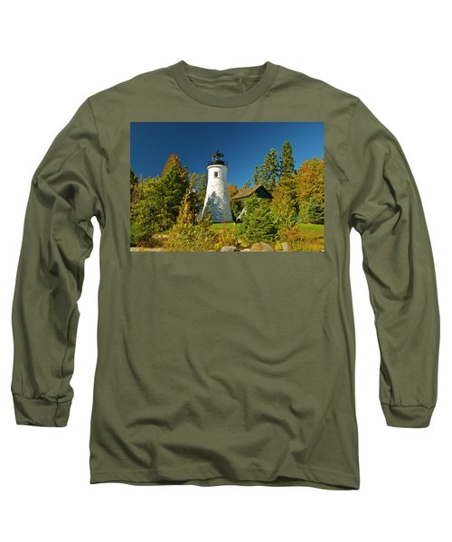 Old Presque Isle Lighthouse_9488 Long Sleeve T-Shirt by Michael Peychich