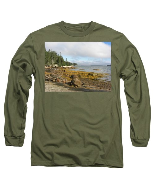 Old Quarry Beach, Stonington, Me Long Sleeve T-Shirt