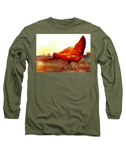 Picking With The Chickens Long Sleeve T-Shirt
