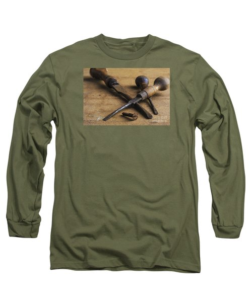 Long Sleeve T-Shirt featuring the photograph Old Screwdrivers by Trevor Chriss