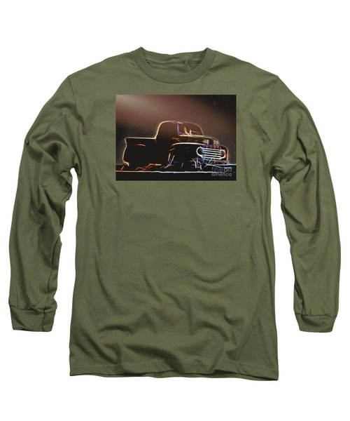 Old Sketched Pickup Long Sleeve T-Shirt by Jim Lepard
