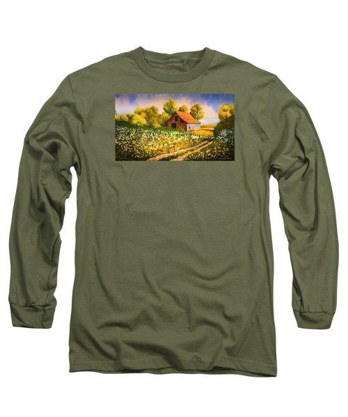 Old Spring Farm Long Sleeve T-Shirt by Douglas Castleman
