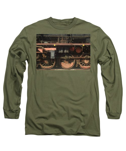 Old  Steam Train ...france Long Sleeve T-Shirt by Pierre Van Dijk