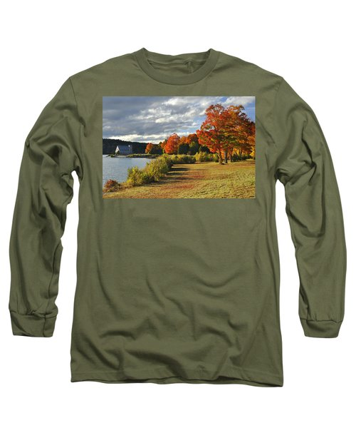 Old Stone Church Autumn Glow Long Sleeve T-Shirt