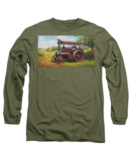 Old Traction Engine. Long Sleeve T-Shirt
