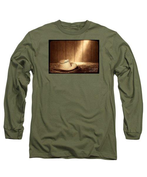 Old West Farmer Hat Long Sleeve T-Shirt