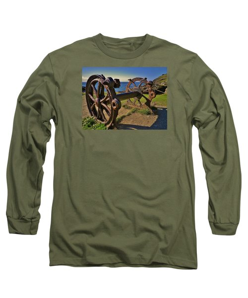 Old Winch Tintagel Long Sleeve T-Shirt by Richard Brookes