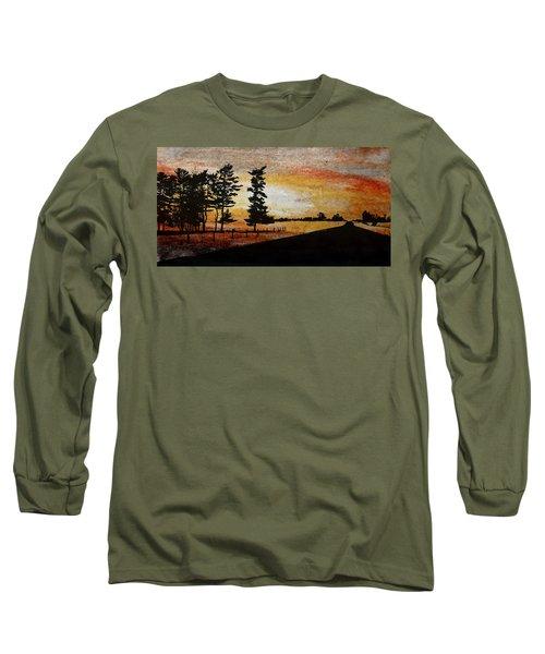 Old Windbreak Long Sleeve T-Shirt by R Kyllo