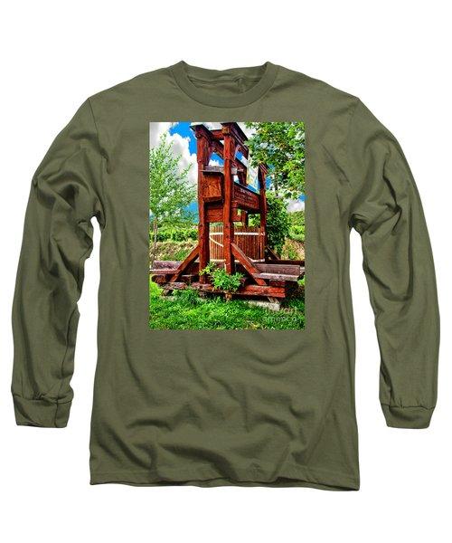 Old Wine Press Long Sleeve T-Shirt by Mariola Bitner