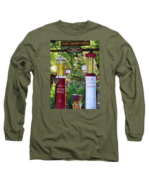 Oldest Dbl. Gravity Gas Pumps 1928 Long Sleeve T-Shirt by Amelia Racca