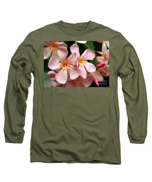 Long Sleeve T-Shirt featuring the photograph Oleander Dr. Ragioneri 2 by Wilhelm Hufnagl