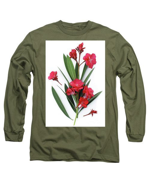 Long Sleeve T-Shirt featuring the photograph Oleander Geant Des Batailles 2 by Wilhelm Hufnagl