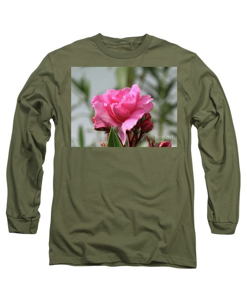 Long Sleeve T-Shirt featuring the photograph Oleander Splendens Giganteum 2 by Wilhelm Hufnagl