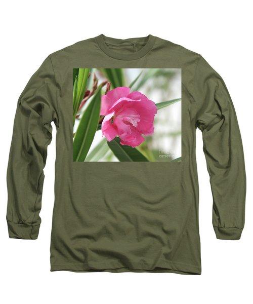 Long Sleeve T-Shirt featuring the photograph Oleander Splendens Giganteum 3 by Wilhelm Hufnagl