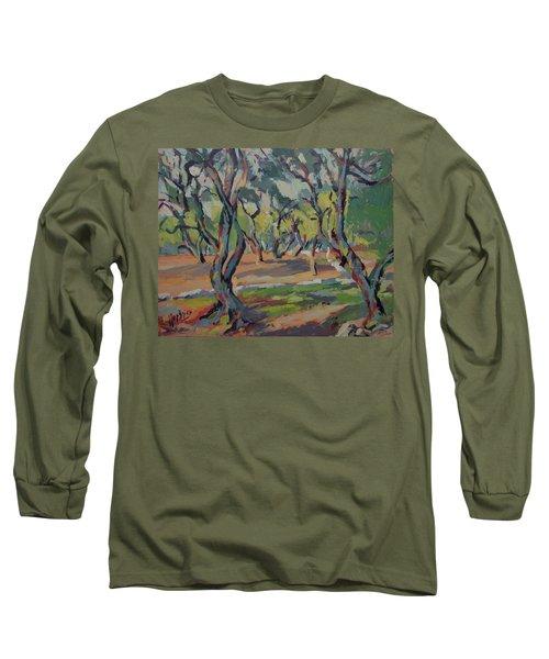 Olive Yard Paxos Greece Long Sleeve T-Shirt