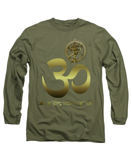 Om Shiva Long Sleeve T-Shirt by Robert G Kernodle