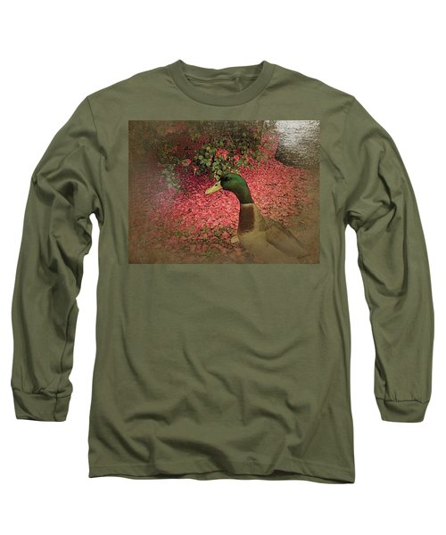 Long Sleeve T-Shirt featuring the painting O'malley by YoMamaBird Rhonda