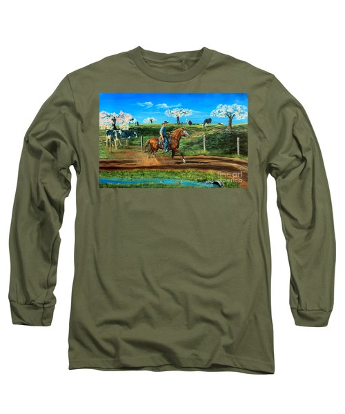 On A Spring Morning Long Sleeve T-Shirt by Ruanna Sion Shadd a'Dann'l Yoder