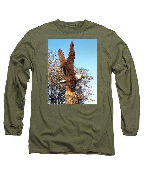 On Eagles Wings II Long Sleeve T-Shirt by Doug Kreuger