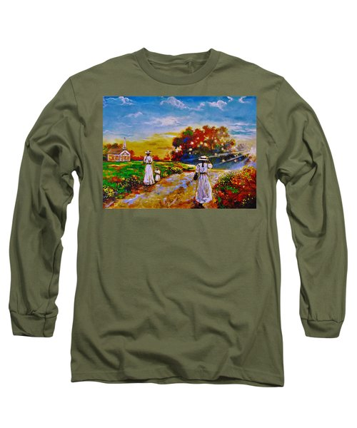 On My Way Home Long Sleeve T-Shirt by Emery Franklin
