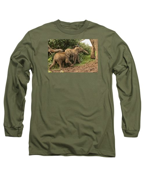 Long Sleeve T-Shirt featuring the photograph On The March by Gary Hall