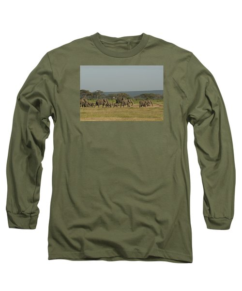 Long Sleeve T-Shirt featuring the photograph On The Move by Gary Hall