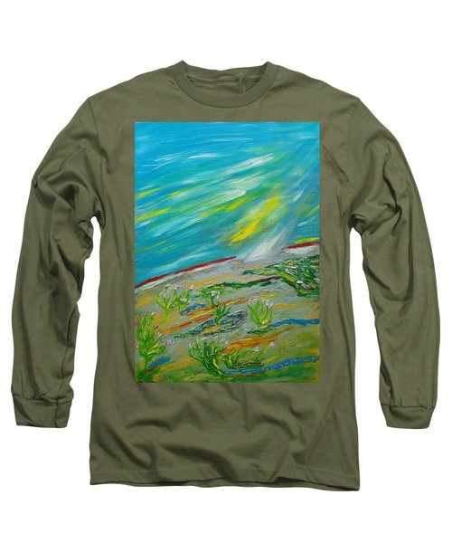 On The Planet. The Fall Of A Meteorite On The Planet Long Sleeve T-Shirt