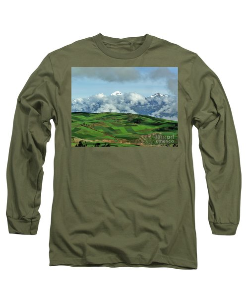 On The Road From Cusco To Urubamba Long Sleeve T-Shirt by Michele Penner