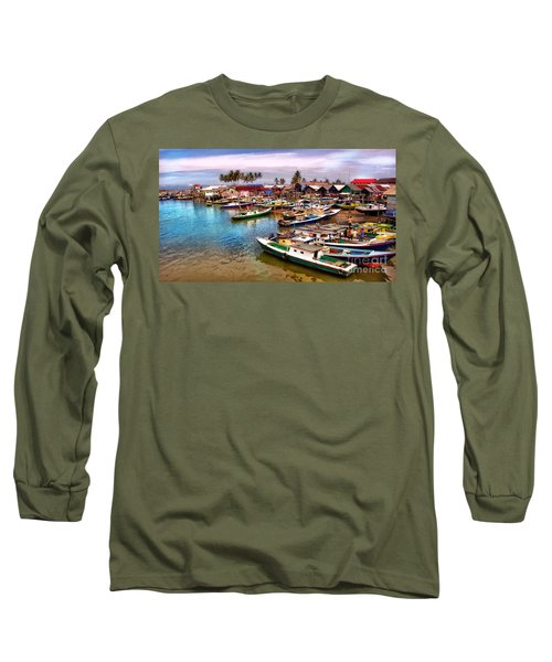 On The Shore Long Sleeve T-Shirt by Charuhas Images