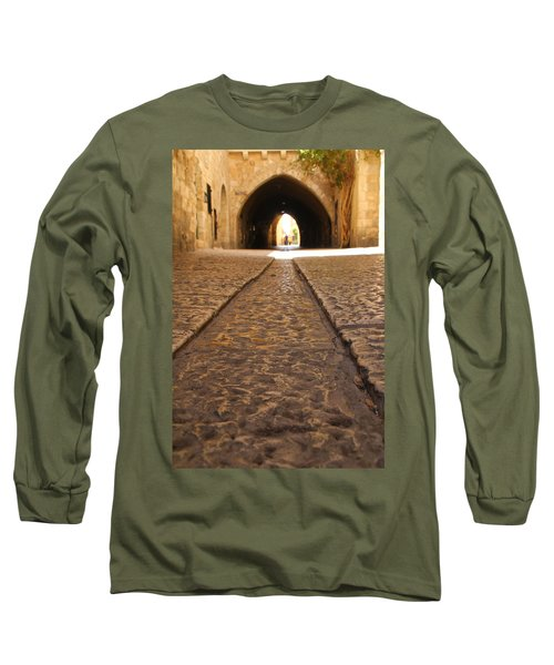 On The Way To The Western Wall - The Kotel - Old City, Jerusalem, Israel Long Sleeve T-Shirt by Yoel Koskas