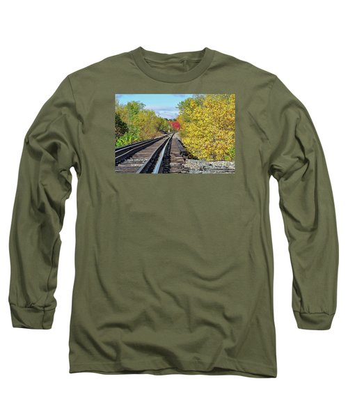 Long Sleeve T-Shirt featuring the photograph On To Fall by Glenn Gordon