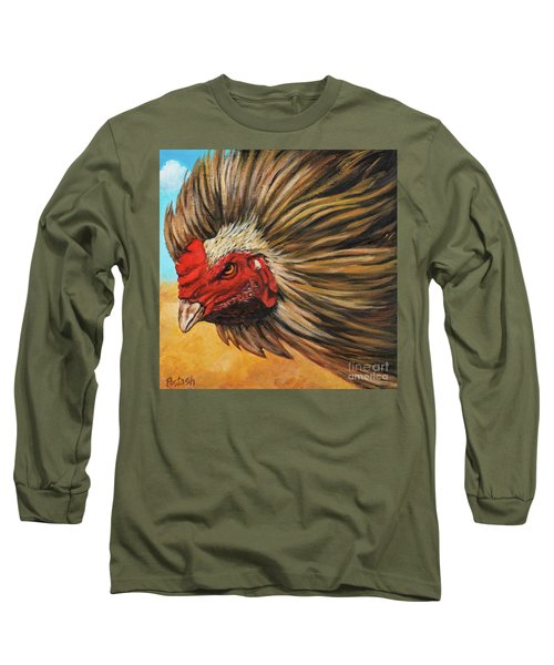 Long Sleeve T-Shirt featuring the painting One Angry Ruster by Igor Postash