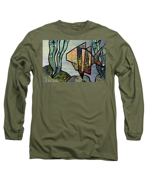 One Fish Long Sleeve T-Shirt by Joan Ladendorf