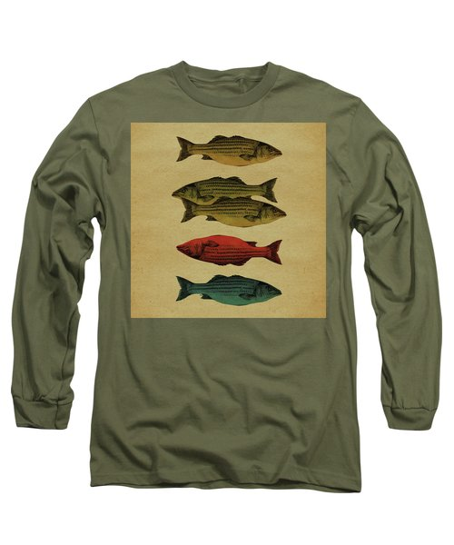 Long Sleeve T-Shirt featuring the drawing One Fish, Two Fish . . . by Meg Shearer