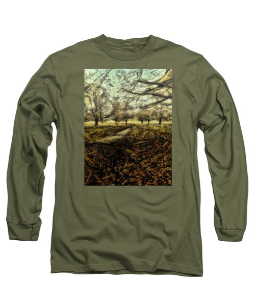 Long Sleeve T-Shirt featuring the digital art One For My Baby And One More For The Road by Leigh Kemp