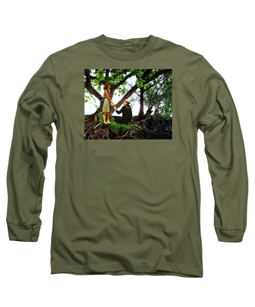 Long Sleeve T-Shirt featuring the photograph One Moment In Paradise by Timothy Bulone