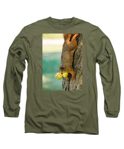 One Nut Is Never Enough Long Sleeve T-Shirt by Joni Eskridge