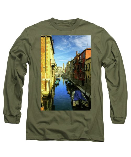 one of the many Venetian canals on a Sunny summer day Long Sleeve T-Shirt