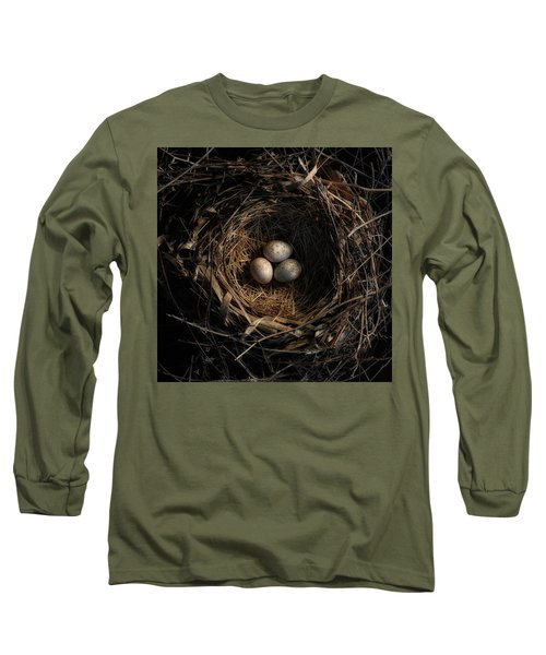 One Of The Most Private Things In The World Is An Egg Until It Is Broken Mfk Fisher Long Sleeve T-Shirt by Mark Fuller
