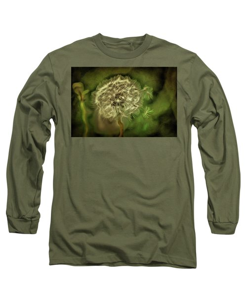 Long Sleeve T-Shirt featuring the mixed media One Woman's Wish by Trish Tritz
