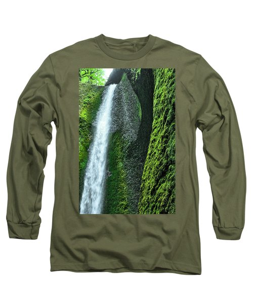 Oneonta Falls  Long Sleeve T-Shirt