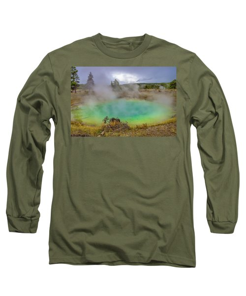 Opal Spring Yellowstone National Park Long Sleeve T-Shirt